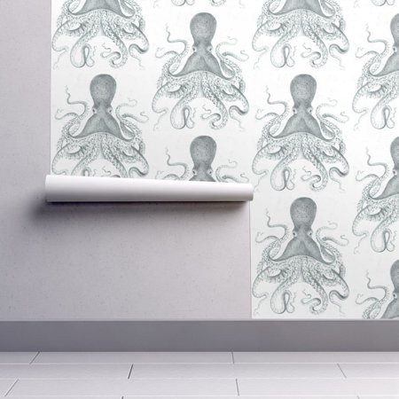 Peel-and-Stick Removable Wallpaper Under The Sea Ocean Nautical Scenery