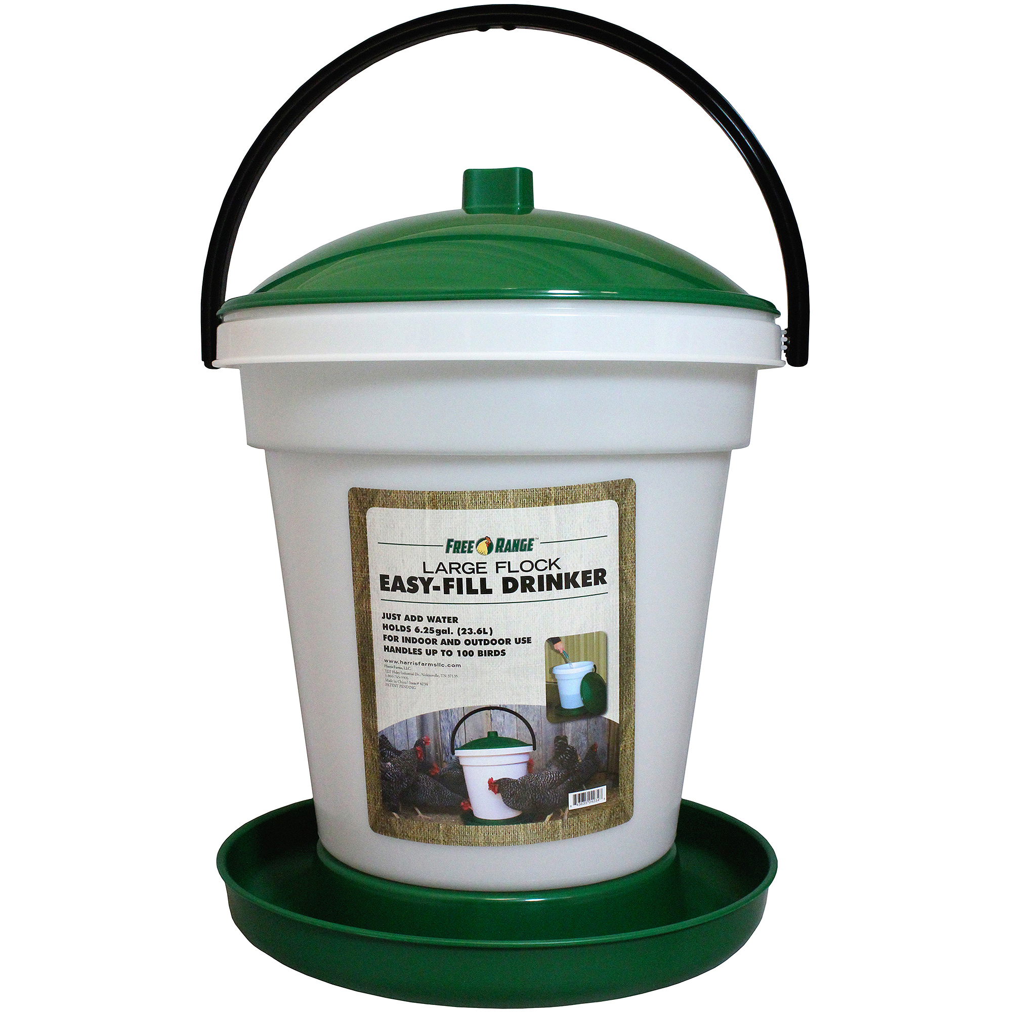 Harris Farms LLC Pet EZ Fill Chicken Water Fountain, 6.25-Gal