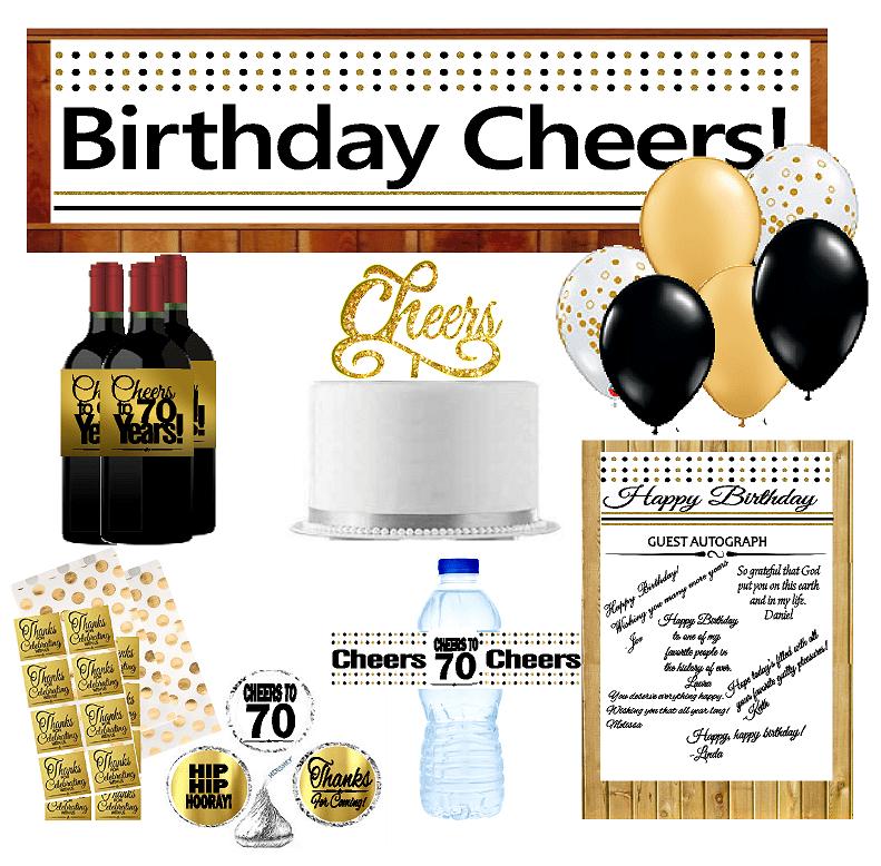 70th Birthday Party DecorationsDecoraitons Kit w. Banner ...
