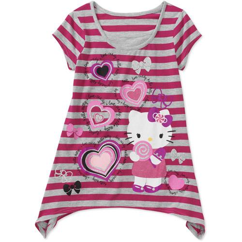 Hello Kitty - Girls' Sharkbite Tee