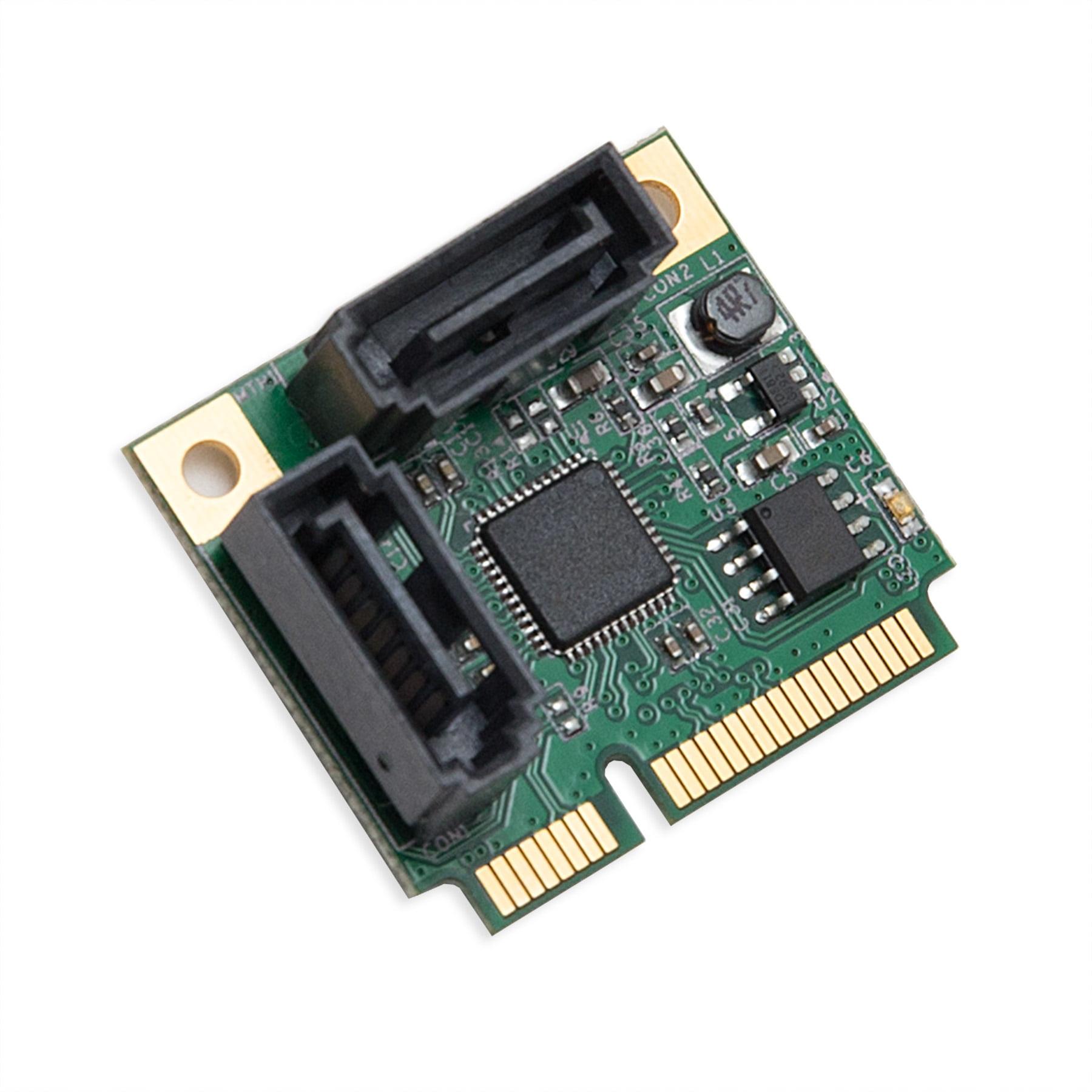 IOCrest Half Height 2 Port SATA III RAID Mini PCI-e 2.0 Card