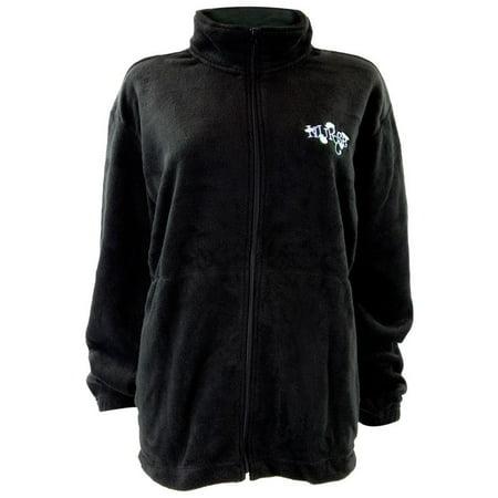 Nurse Embroidery Women's Zip-Up Fleece Jacket ()