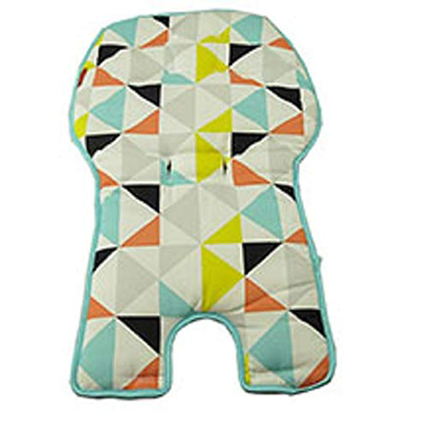 Replacement Seat Pad Cushion   Cover for Fisher Price SpaceSaver High Chair (FLG95 Multi Triangles) by Fisher-Price