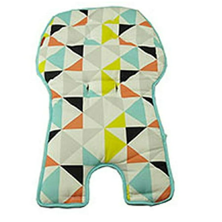 Replacement Seat Pad/Cushion / Cover for Fisher-Price SpaceSaver High Chair (FLG95 Multi Triangles) ()