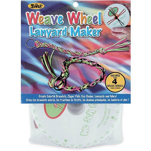 Toner Plastics The Weave Wheel Lanyard Kit, 4/pkg
