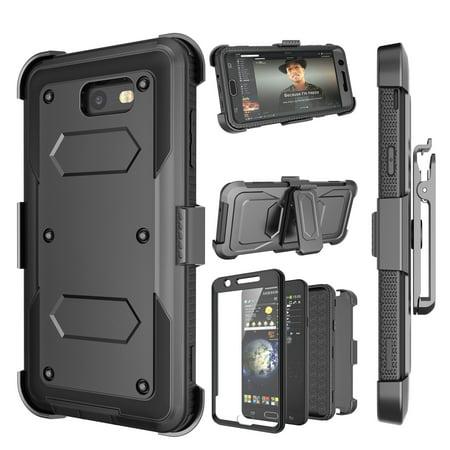 Secura Cover (Tekcoo Galaxy J7 Sky Pro Case, J7 V/J7V/J7 Perx/Halo/Prime Holster Clip, [TShell] [Built-in Screen] Locking Secure Swivel Belt Kickstand Phone Cover Full Body Case Cover For Samsung J7 2017)