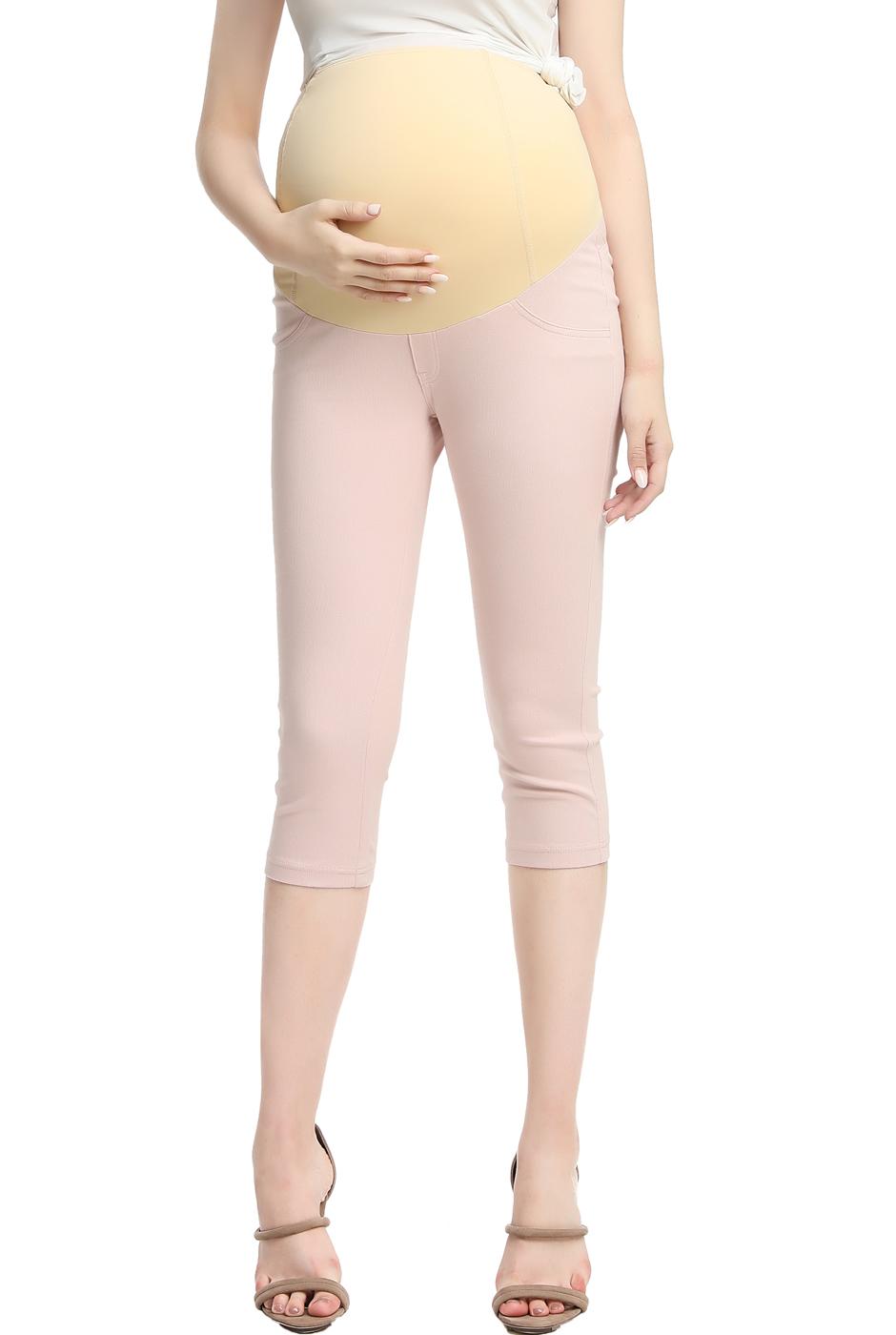Maternity Women's Capri Jeggings - Blush XL