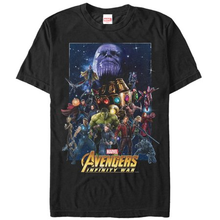 Marvel Men's Avengers: Infinity War Character Collage T-Shirt - Marvel Suits