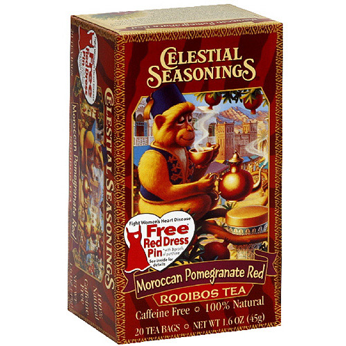 Celestial Seasonings Red Moroccan Pomegranate Tea, 20ct (Pack of 6)