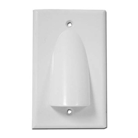 Skywalker Signature Series Single Gang Bundled Cable Wall Plate, White (Signature Wall Plate)