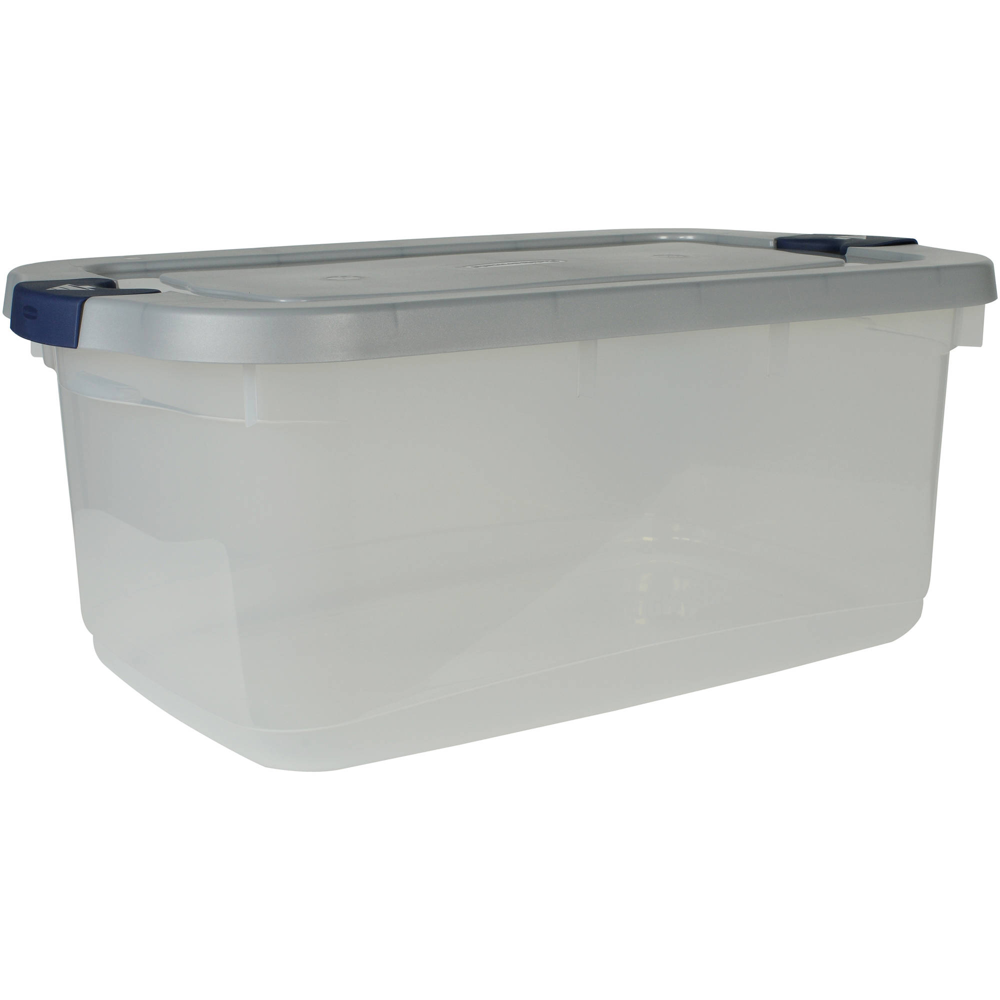 rubbermaid roughneck clear storage tote bins 50 qt 125 gal clear with