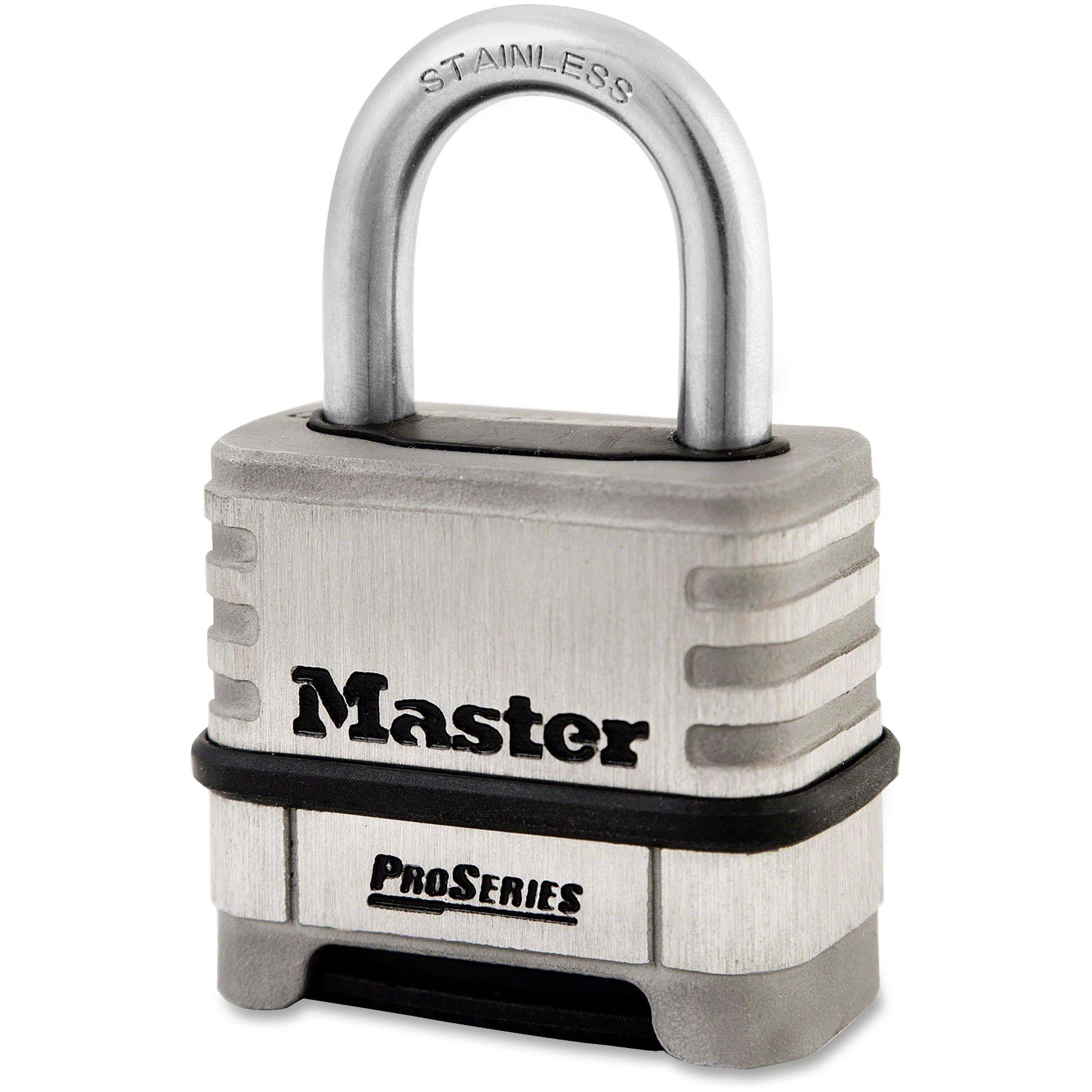 Master Lock, MLK1174D, ProSeries Stlss Steel Combo Lock, 1 Each, Stainless Steel