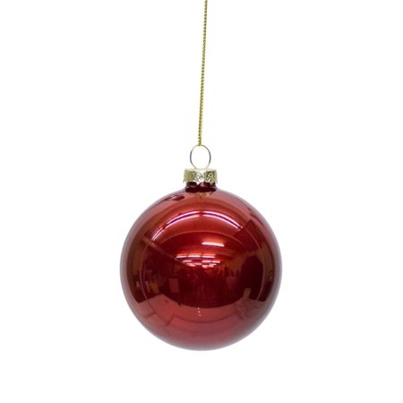 Ruby Bell - Club Pack of 12 Shiny Ruby Red Glass Christmas Ball Ornaments 3