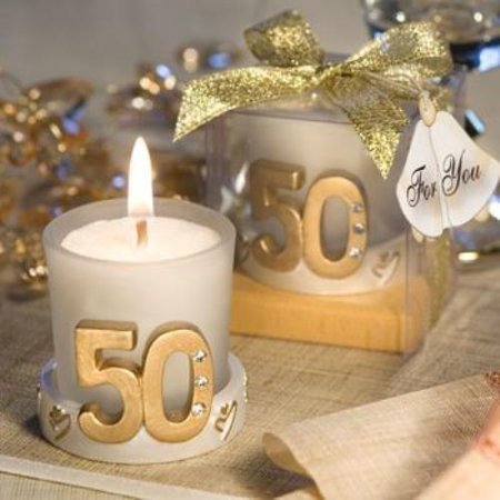 Golden Anniversary Candle Favors  pack of 13 ()