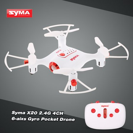 Syma X20 2.4G 4CH 6-axis Gyro Pocket Drone RC Quacopter RTF with Headless Mode Altitude Hold 3D-flip Function