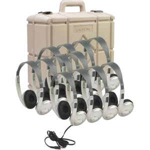 - Ergoguys 3060AVS12 Califone 12 Pk Stereo Headphones W/Case