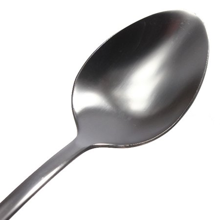 6Pcs Stainless Steel Long Drink Ice Cream Coffee Cocktail Teaspoon Spoon Kitchen - image 2 de 4