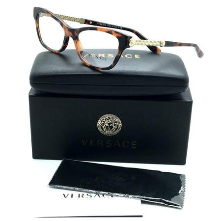 937c6475f8f2 Versace New Authentic Brown Havana Gold Luxury Italy Women Eyeglasses MOD  3214 944 52 16 140 - Walmart.com