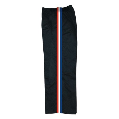 Red And White Striped Pants - Black Team pants with red white and blue stripe by Bold b218