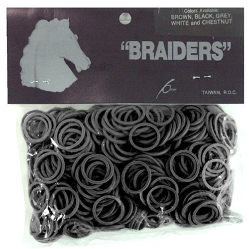 Horse Mane & Tail Braiding Bands - Dk Brown [Misc.]