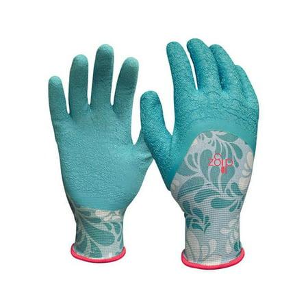 Image of Womens Latex Gardening Gloves - Blue Medium
