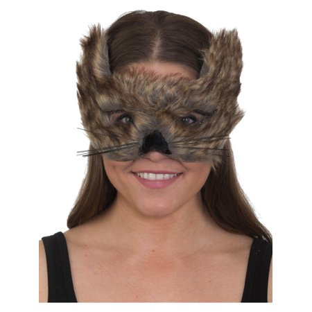 Brown Wolf Mask (Adult's Cute Furry Brown Timberland Wolf Animal Mask Costume)