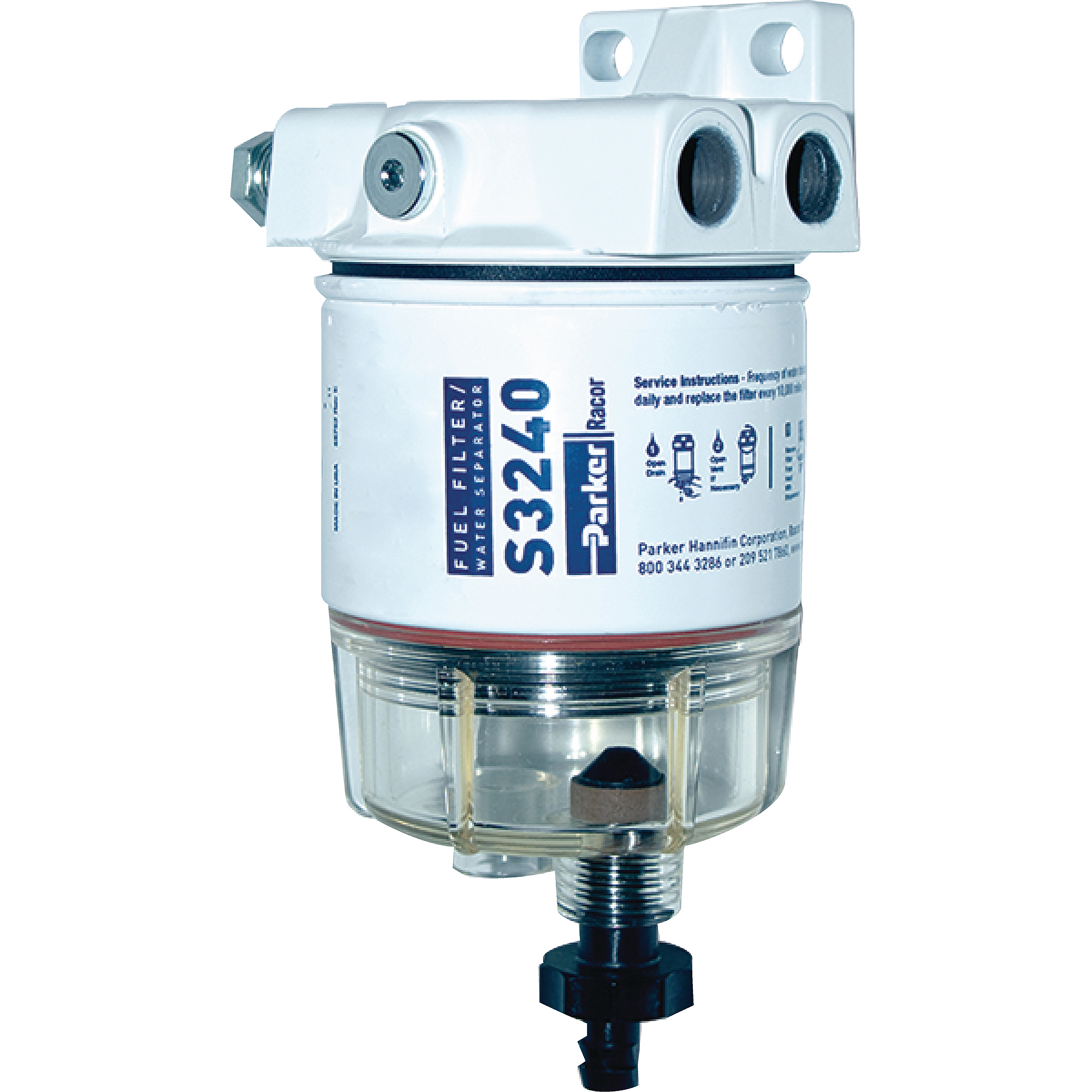 Racor 10 Micron Gas Spin On Fuel Water Seperator With Clear Bowl For Parker Filter Outboards