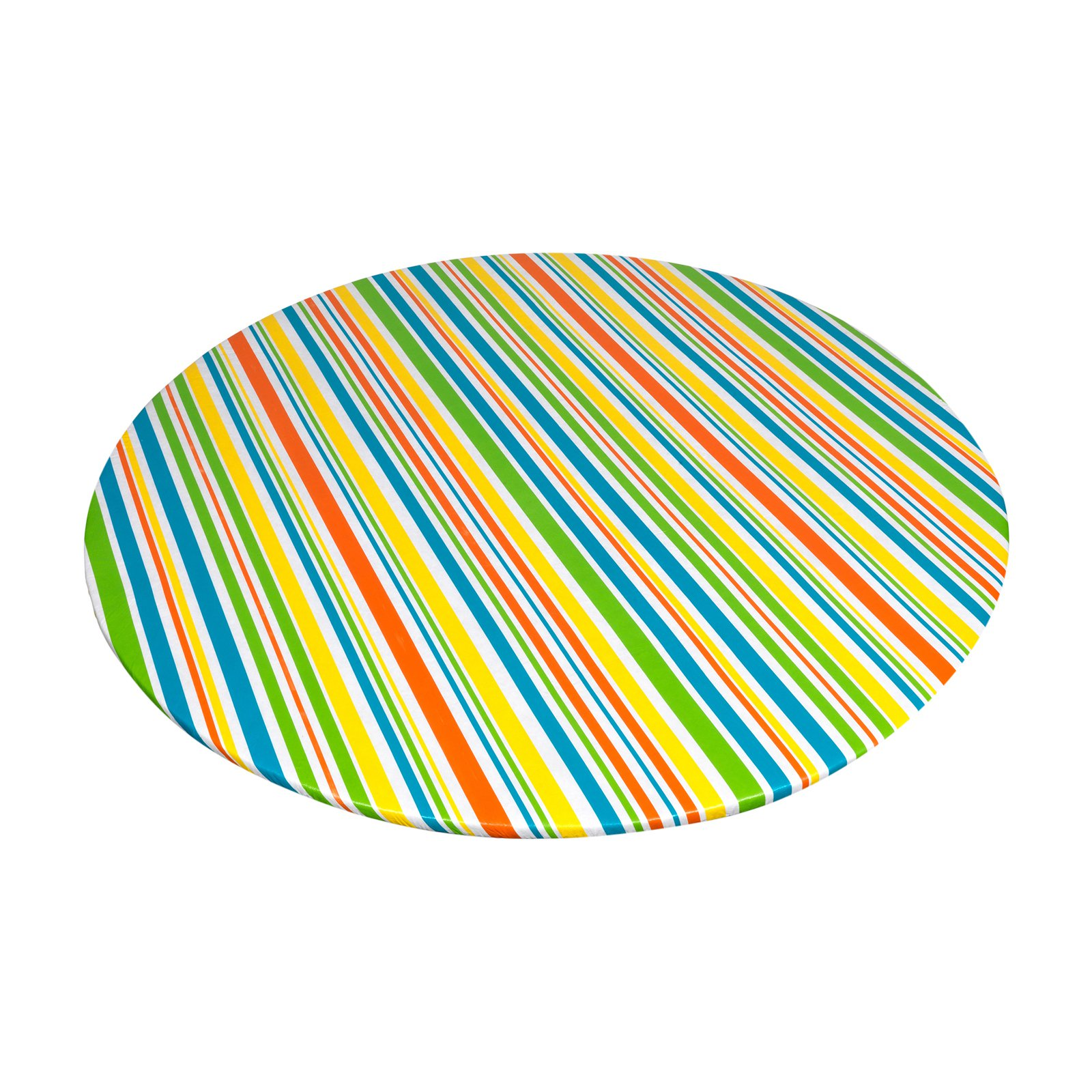 "Carnation Home Fashions ""Sunshine"" 60"" Round Vinyl Flannel Backed Tablecloth"