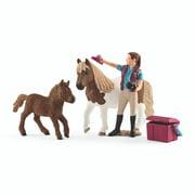 Schleich Farmland, Stablehand with Shetland Ponies Set