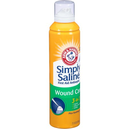 Arm & Hammer Simply Saline Plus Wound Wash 3-in-1 First Aid Antiseptic, 7.1 Fl Oz