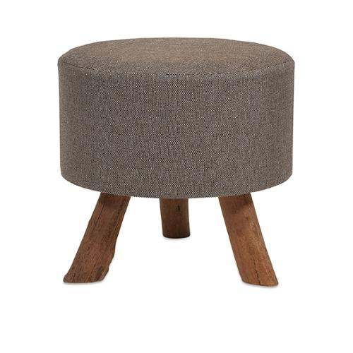 """20.5""""  Large Country Rustic Brown Jute Foot Stool Ottoman"""