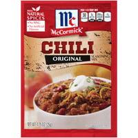 (4 Pack) McCormick Chili Seasoning Mix, 1.25 oz