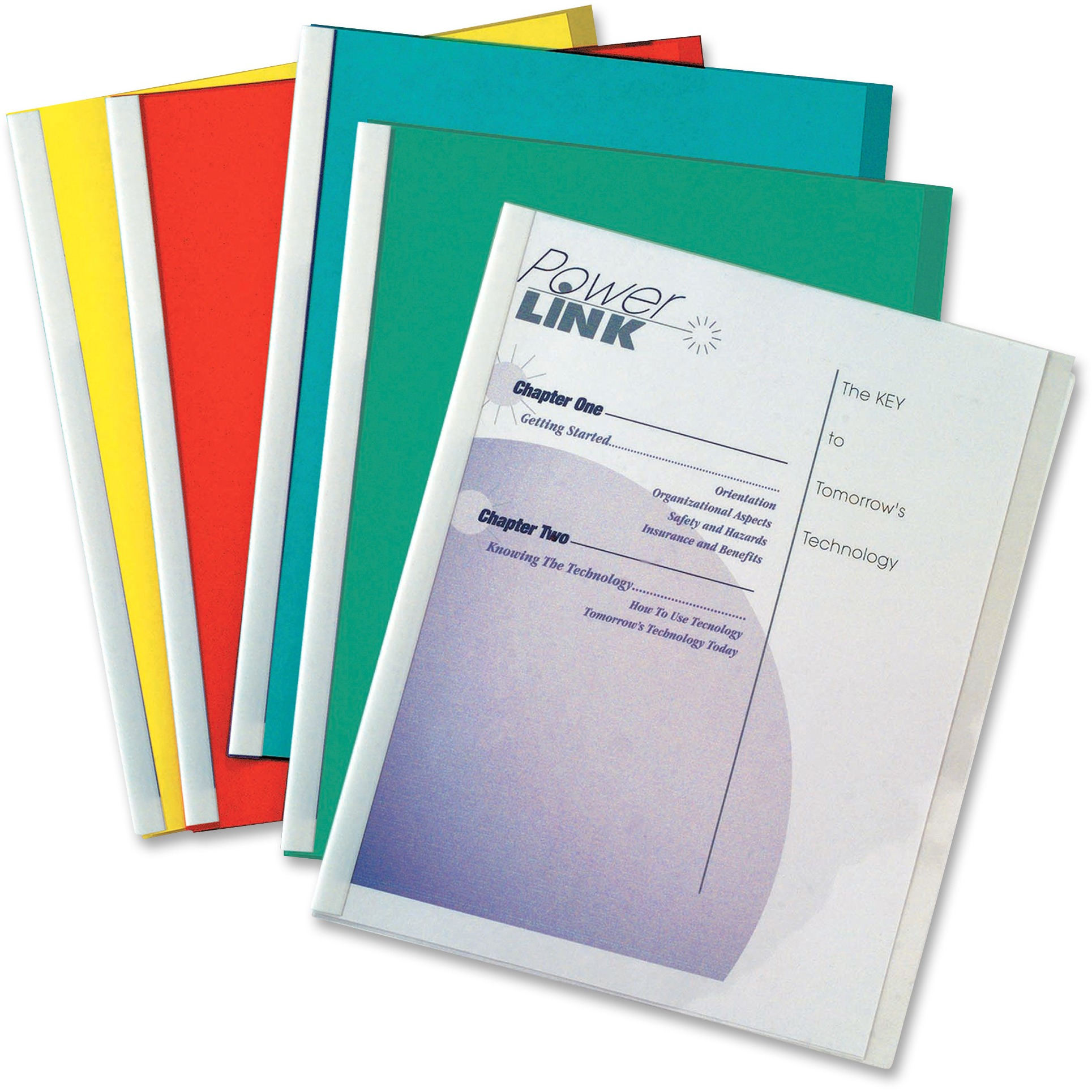 C-Line Report Covers with Binding Bars, Vinyl, Assorted, 8 1 2 x 11, 50 BX by C-LINE PRODUCTS, INC