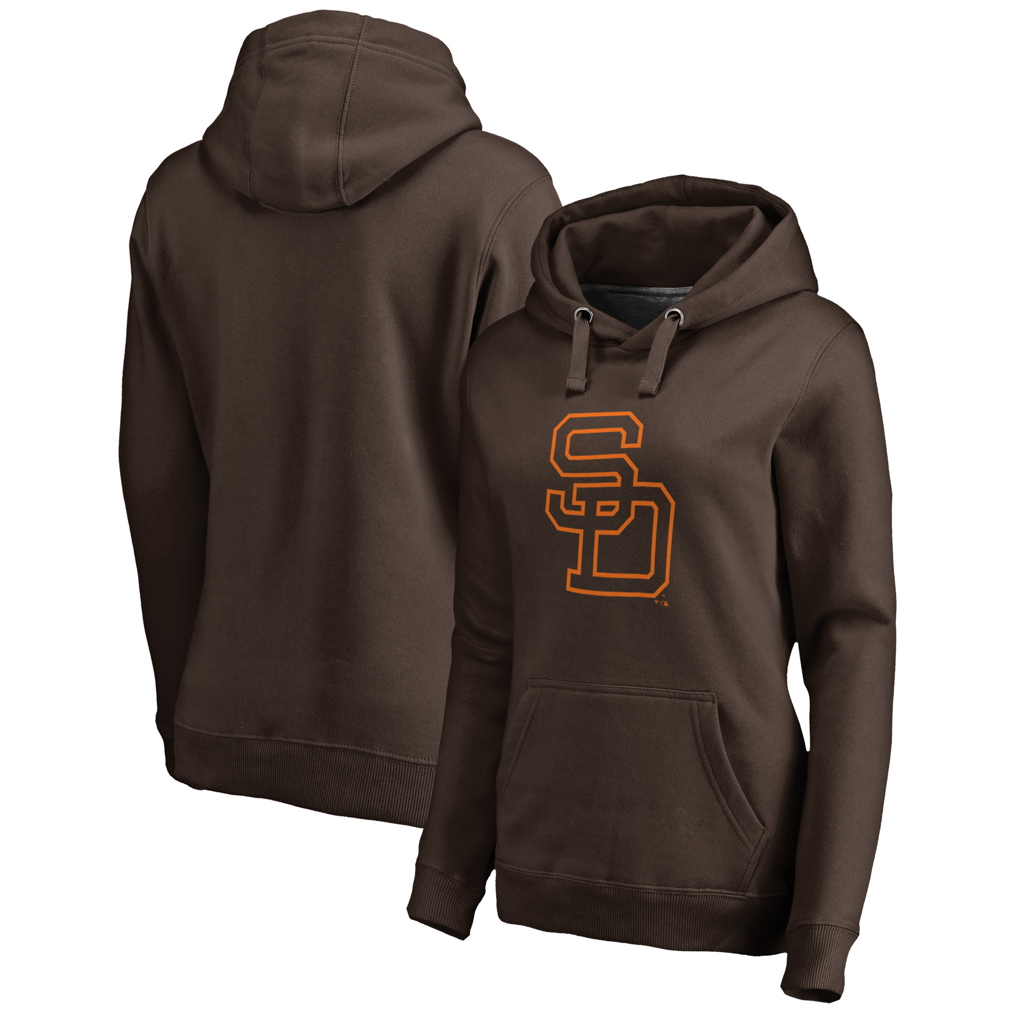 San Diego Padres Fanatics Branded Women's Cooperstown Collection Huntington Pullover Hoodie - Brown