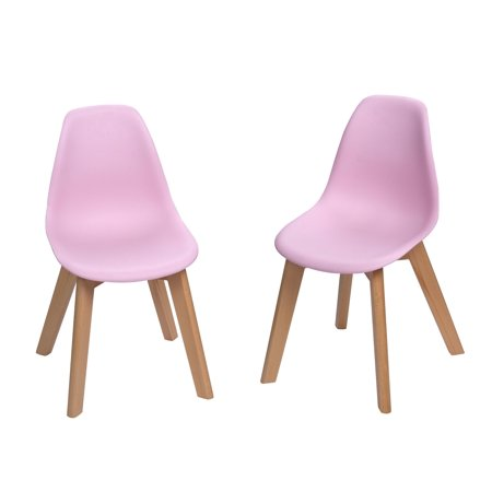 Modern Kids Chairs with Beech Legs (Set of 2 Pink Chairs) Modern Kids Chairs with Beech Legs (Set of 2 Pink Chairs)