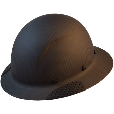 DAX Actual Carbon Fiber Material Hard Hat - Full Brim Matte - Customized Hard Hats