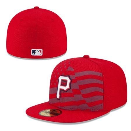 Pittsburgh Pirates New Era Stars   Stripes 4th of July Diamond Era 59FIFTY  Fitted Hat - Red - Walmart.com 15970cfc0f6