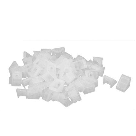 Closet Cabinet Plastic Angle Corner Bracket Connector White 20x18x20mm 50pcs (White Corner Connector)