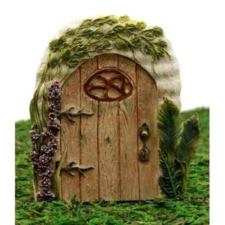 Ebros Gift Enchanted Fairy Garden Miniature Lavender Oak Tree House Door Figurine 4