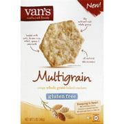 Van's Multigrain Crispy Whole Grain Baked Crackers, 5 oz, (Pack of 6)