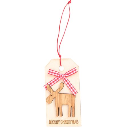 Womail Merry Christmas Pendant Ornaments DIY Wood Crafts Gifts Xmas Tree Ornaments