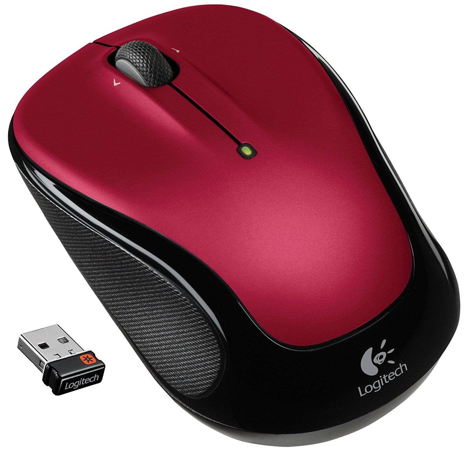 small mouse, portable Logitech Scrolling Red for laptop computer Wireless mouse