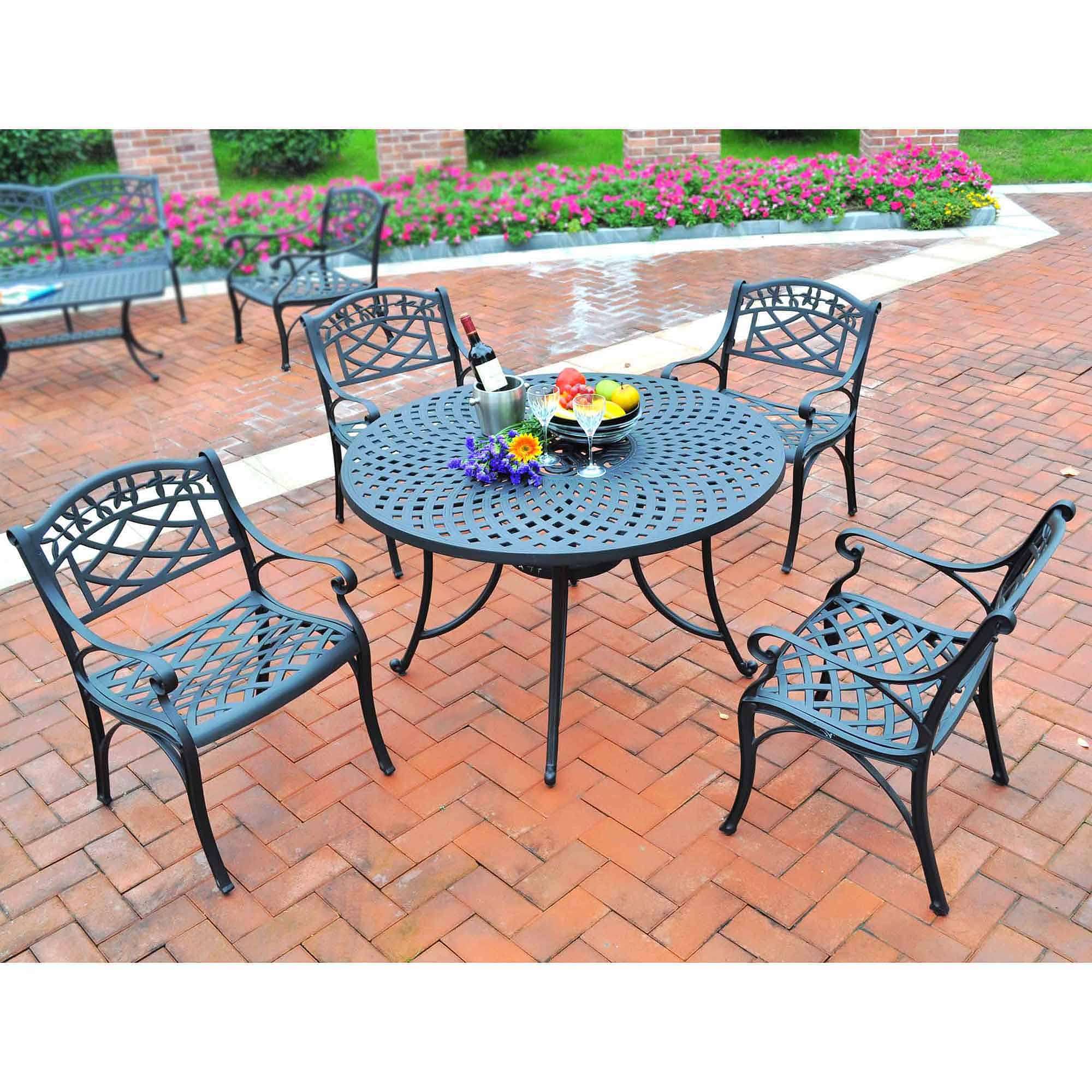 "Click here to buy Crosley Furniture Sedona 42"" Five-Piece Cast Aluminum Outdoor Dining Room Set by Generic."