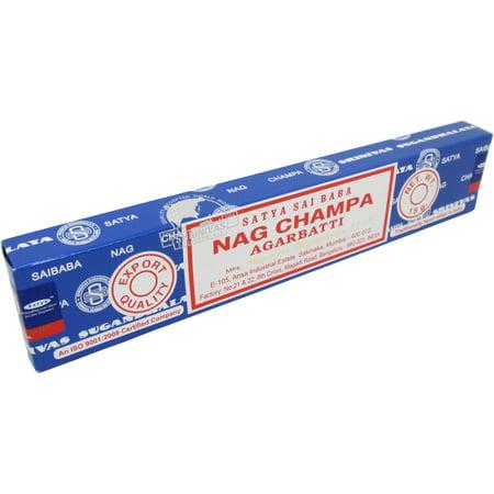 Nag Champa Incense (Satya Sai Baba Nag Champa Agarbatti 15 g 12 Incense)