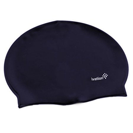 Ivation Swim Cap - Silicone Solid Swimming Cap – Perfect for Competitive Swimming & Other