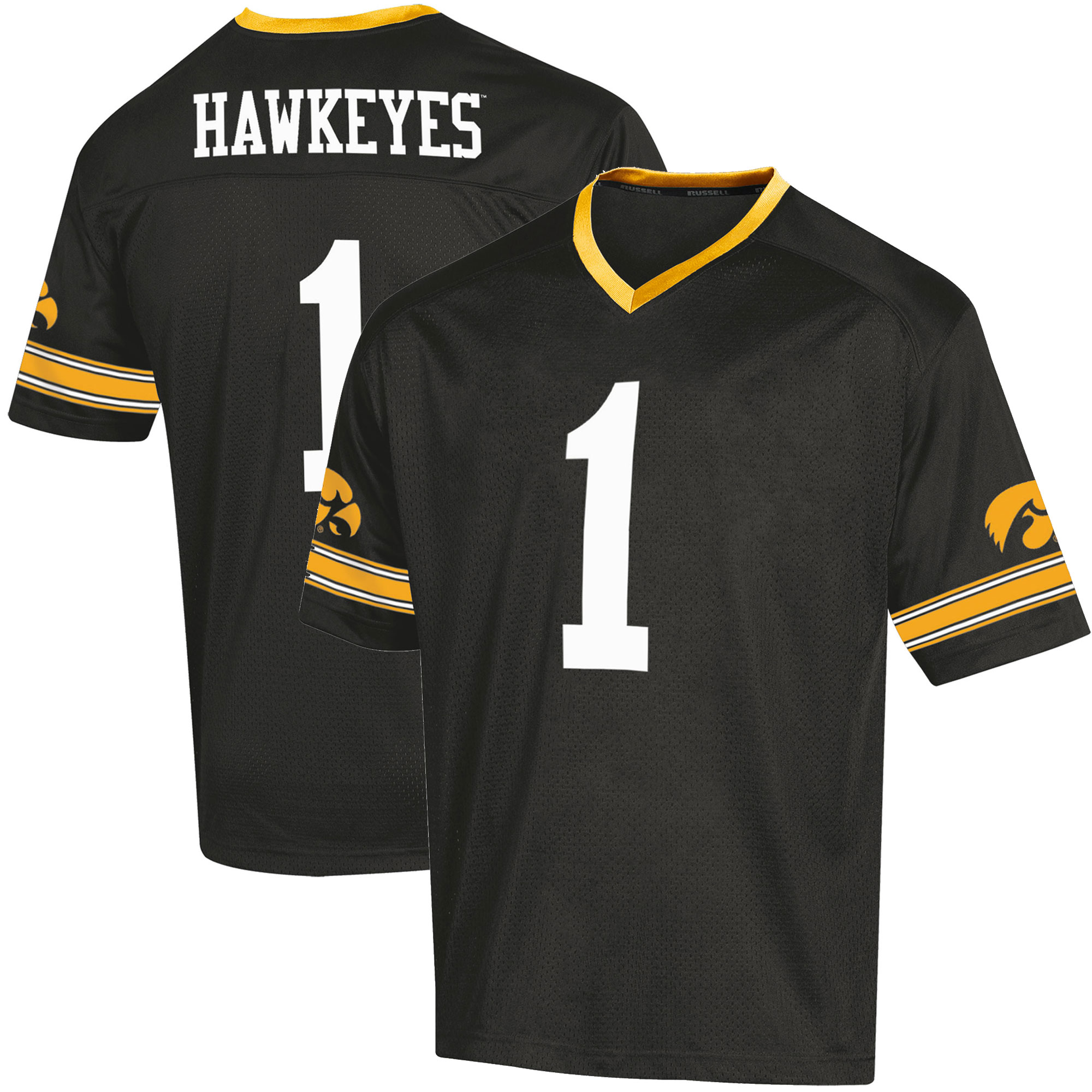 Toddler Russell Black Iowa Hawkeyes Replica Football Jersey