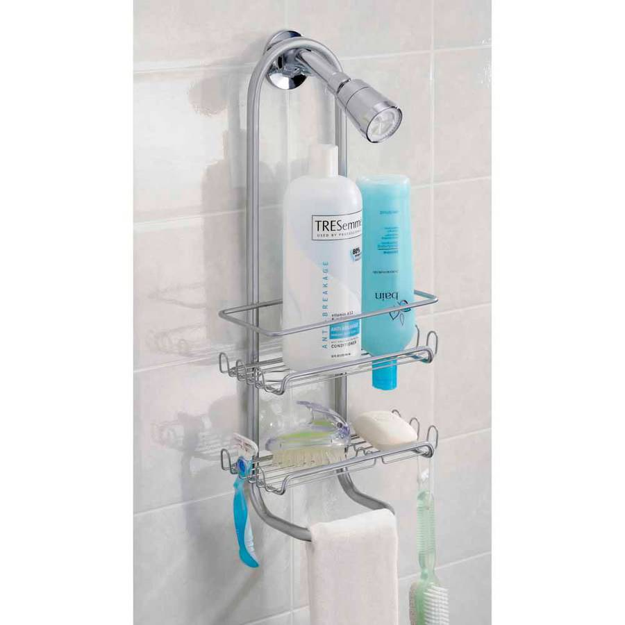 InterDesign Classico Bathroom Shower Caddy for Shampoo, Conditioner, Soap, Silver by INTERDESIGN