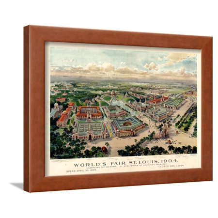 1904, Saint Louis World's Fair Bird's Eye View Unattributed Publisher, Missouri, United Framed Print Wall Art](Party City Saint Louis Missouri)