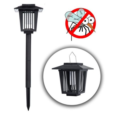 Solar Mosquito Zapper Outdoor Bug Killer Backyard Insect Killing Lamp Hanging or Stake in Ground Garden Patio Lawn Camping Cordless Solar Powered Pest Control Light Best Stinger Mosquitoes Moth