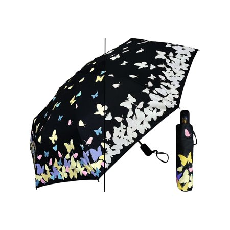 Rainstoppers Women Black Multi Color Changing Butterfly 44